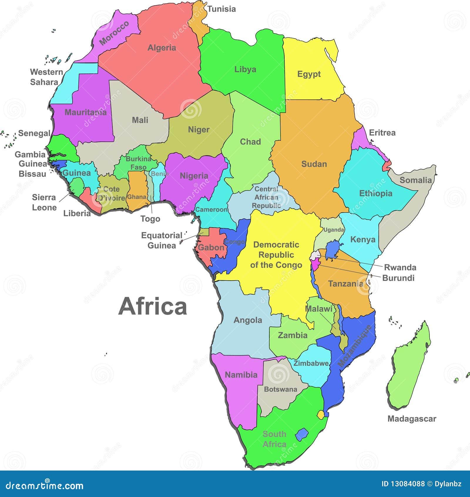 Afrika Karte Deutsch.Afrika Karte Vektor Abbildung Illustration Von Vektor 13084088