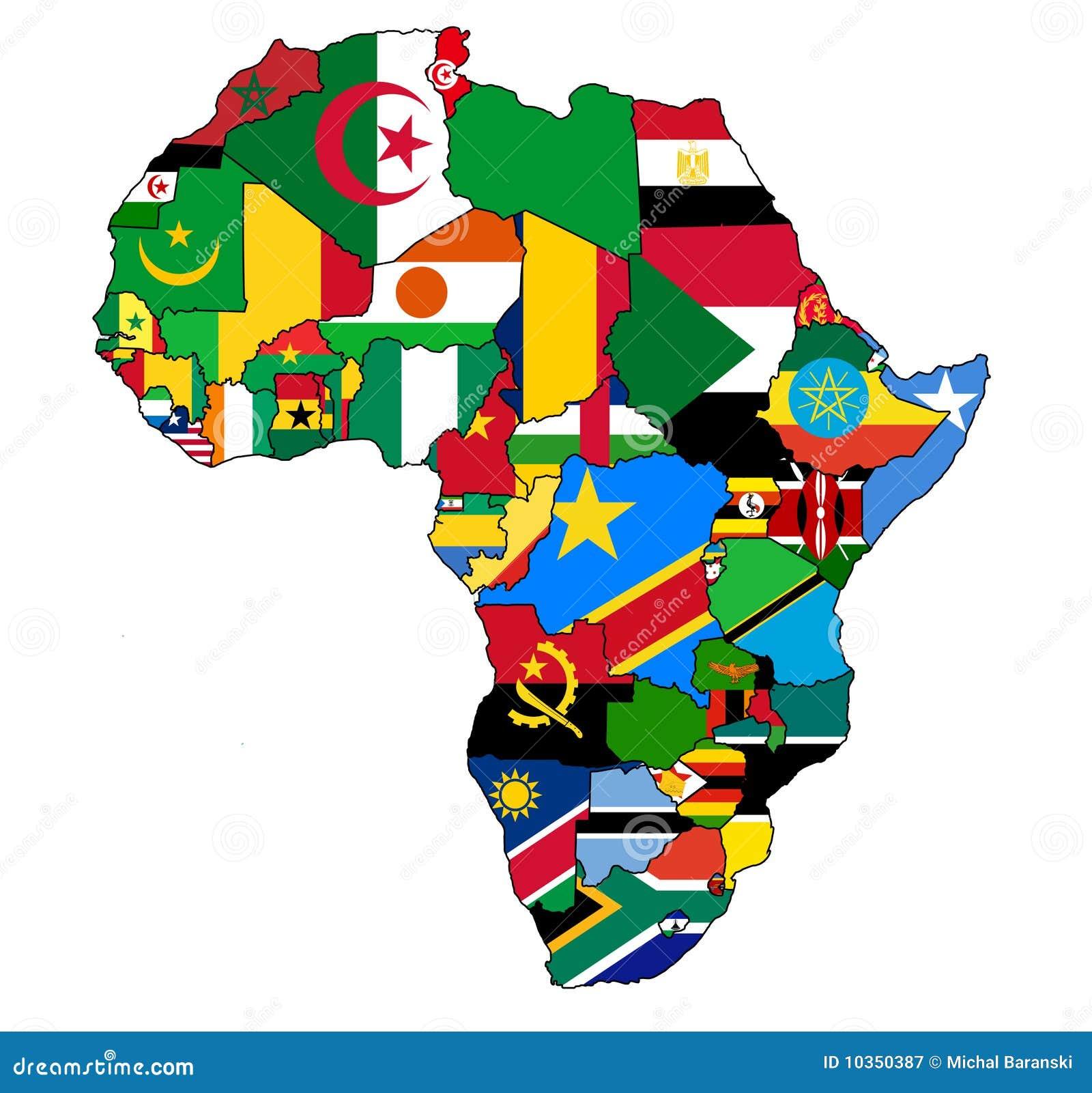 Afrika-Kartenmarkierungsfahne