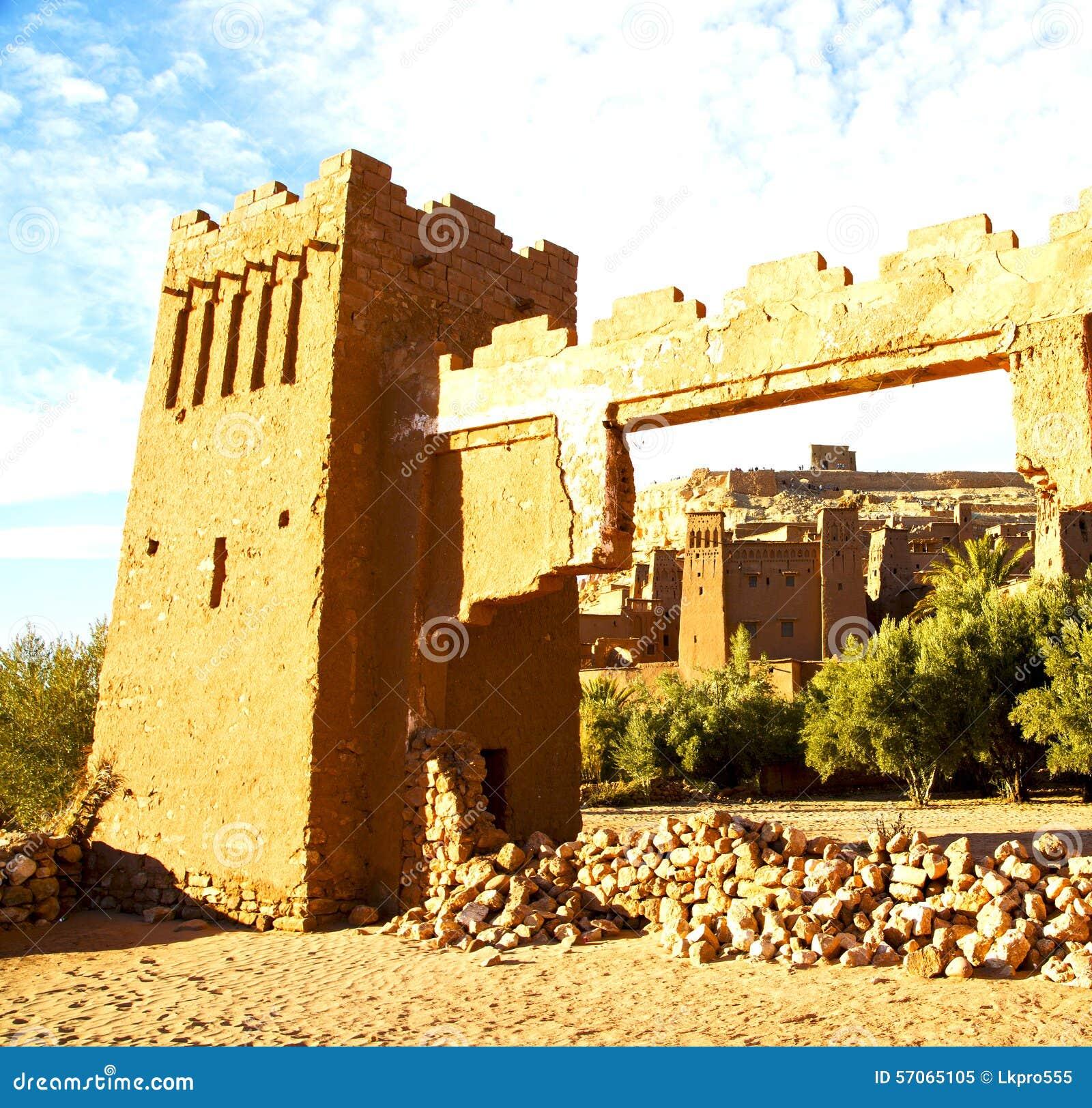 Afrika in Marokko oude contruction en het historische dorp