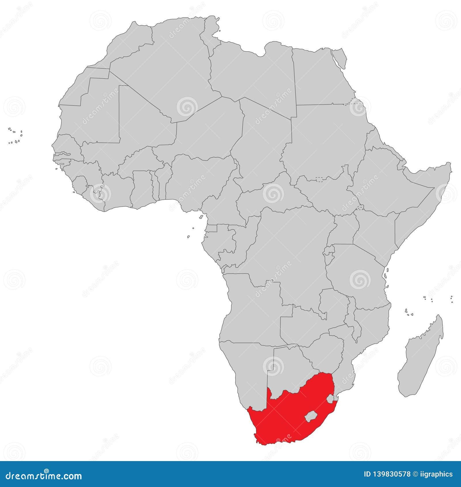 Afrika - politische Karte von Afrika