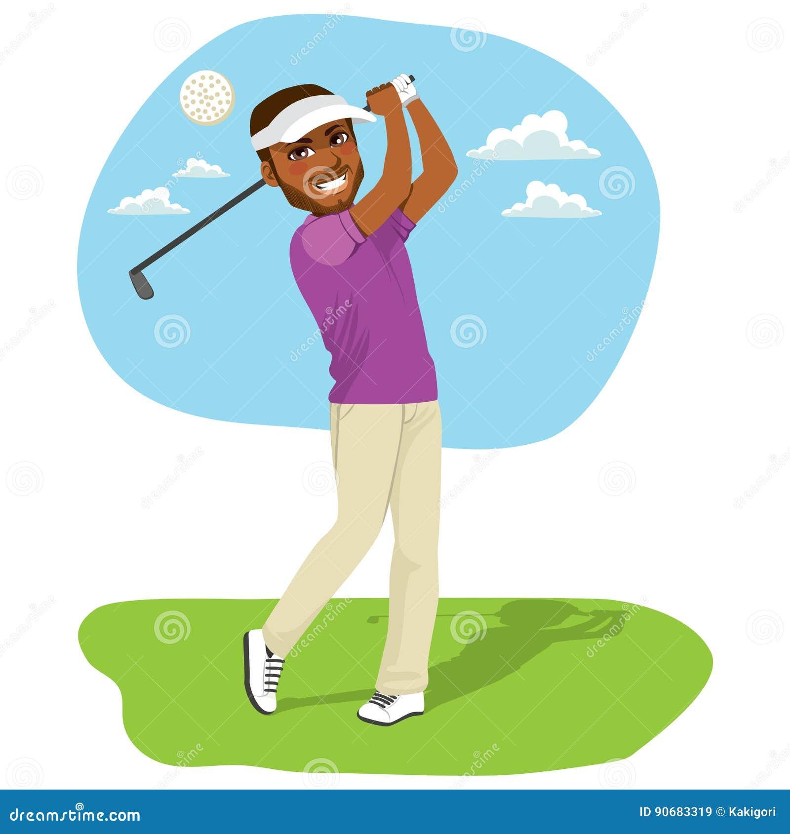 Afrikaanse Amerikaanse Golfspeler