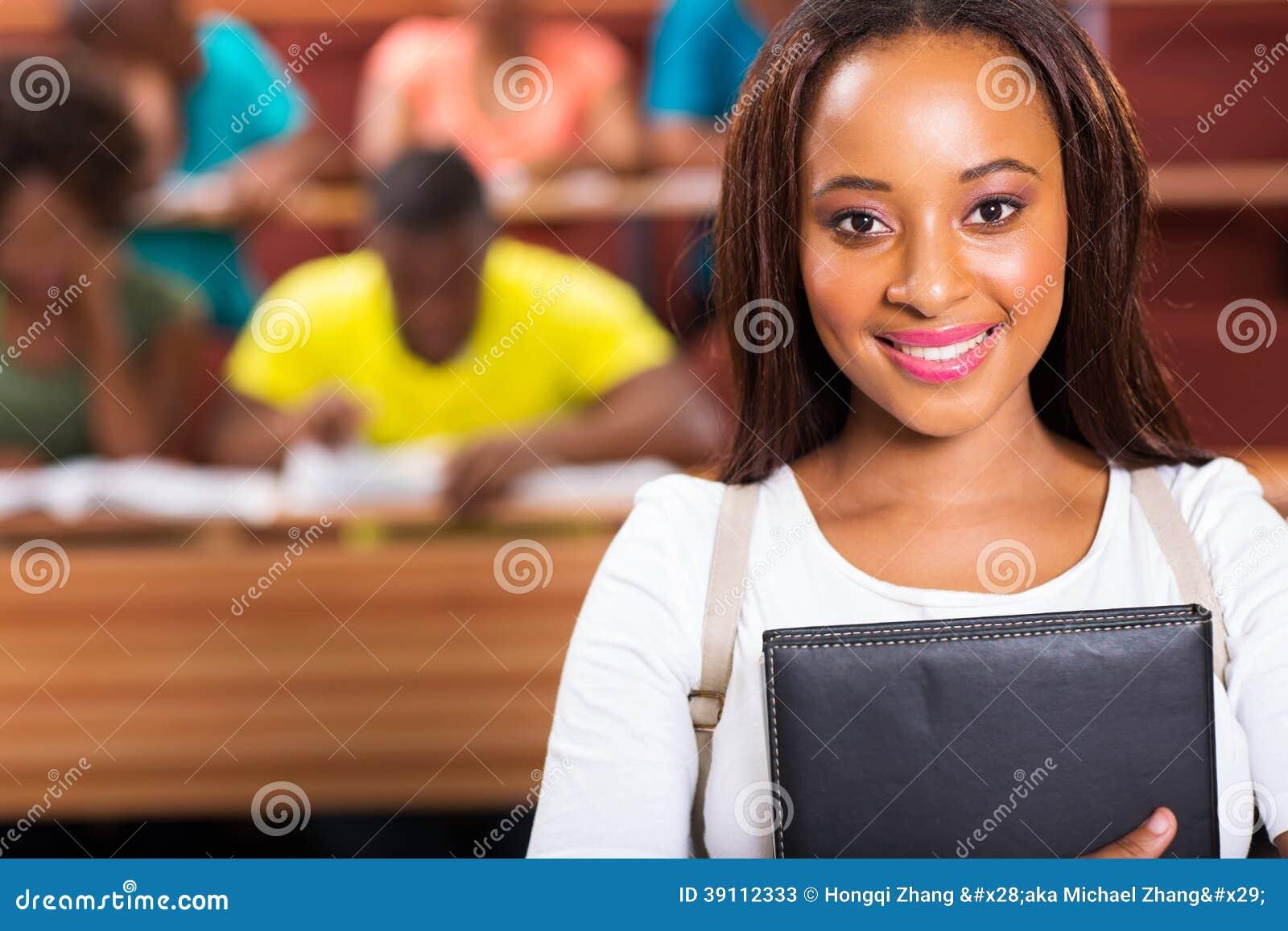 Afrikaanse Amerikaanse universitaire student