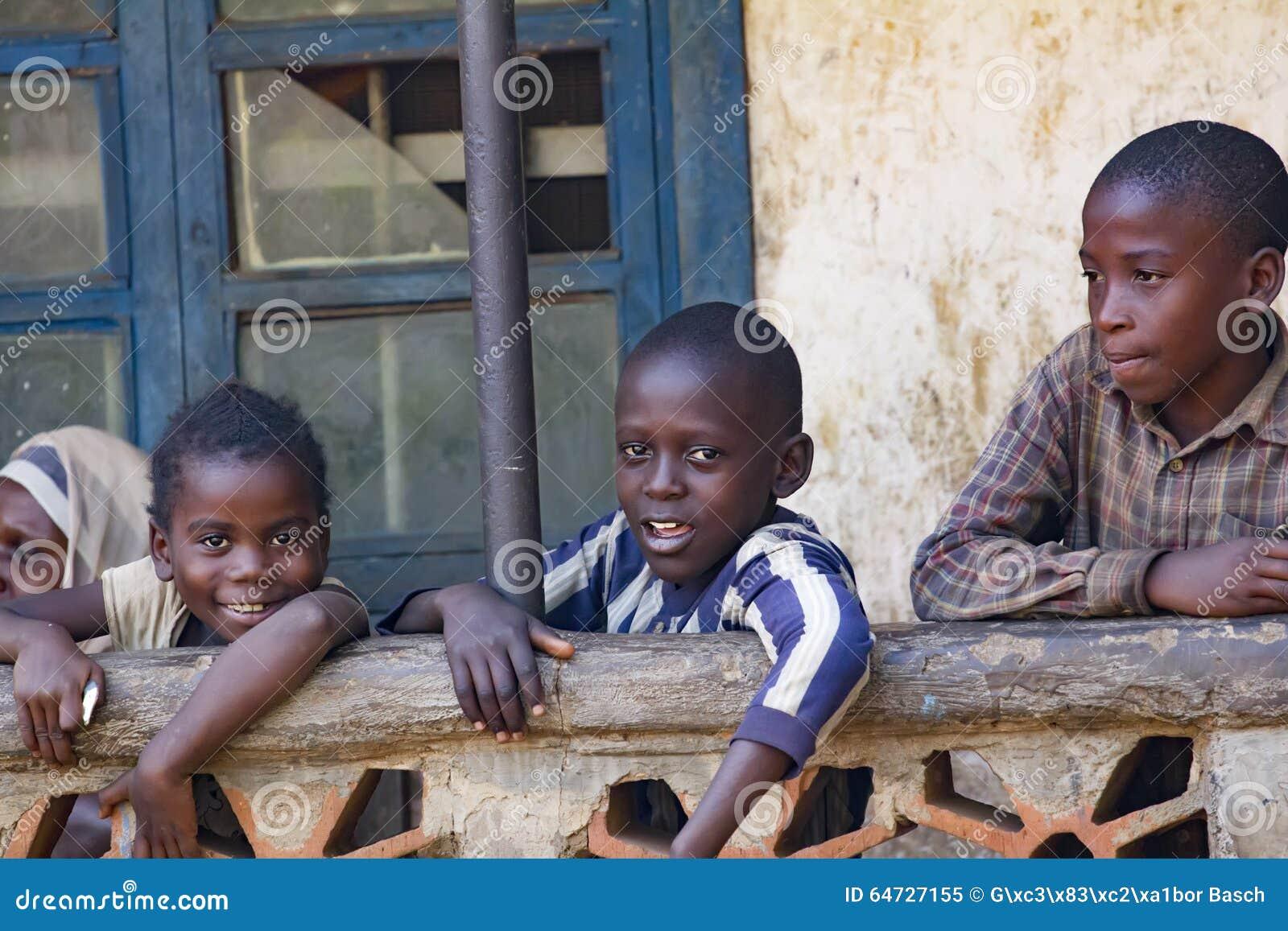 Afrikaanse kinderen van Oeganda