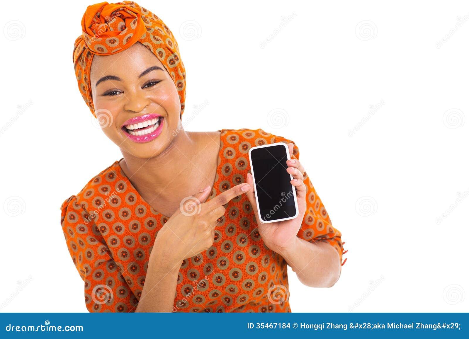 Afrikaanse meisjes slimme telefoon