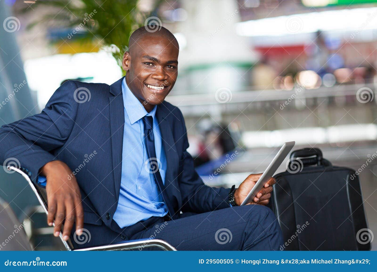 Afrikaanse zakenmanluchthaven