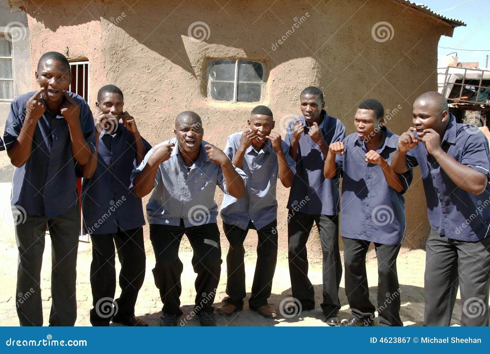 Afrikanische Chorsänger