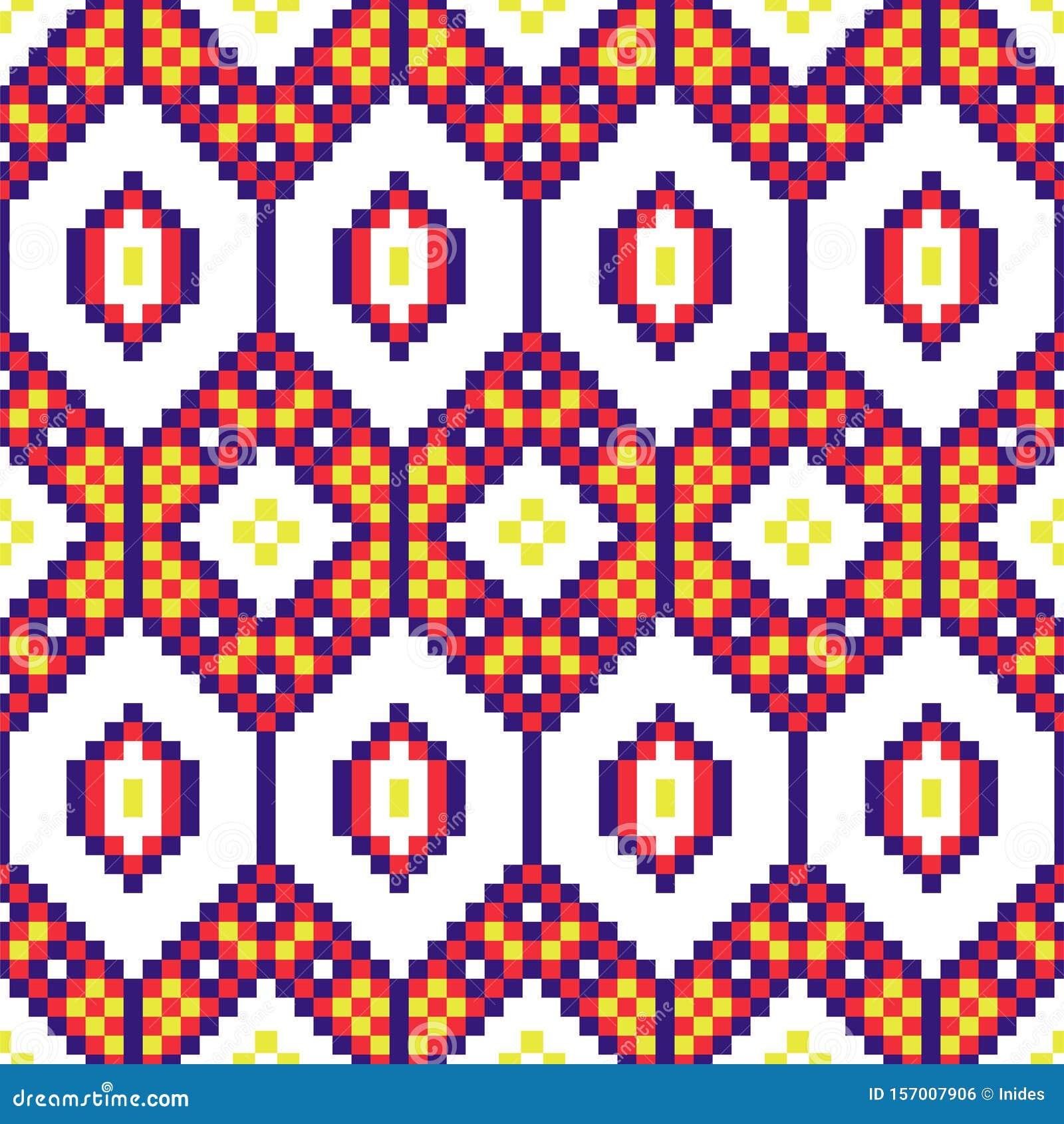 afrikanische geometrische nahtlose muster beattelte