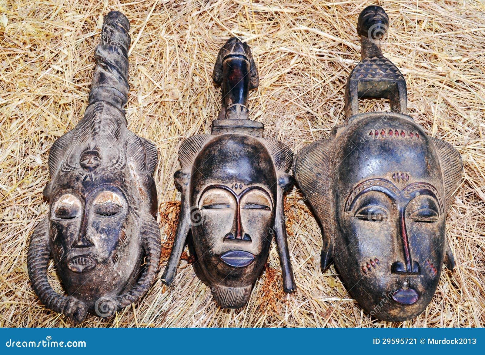 afrikanische masken stockbild bild 29595721. Black Bedroom Furniture Sets. Home Design Ideas