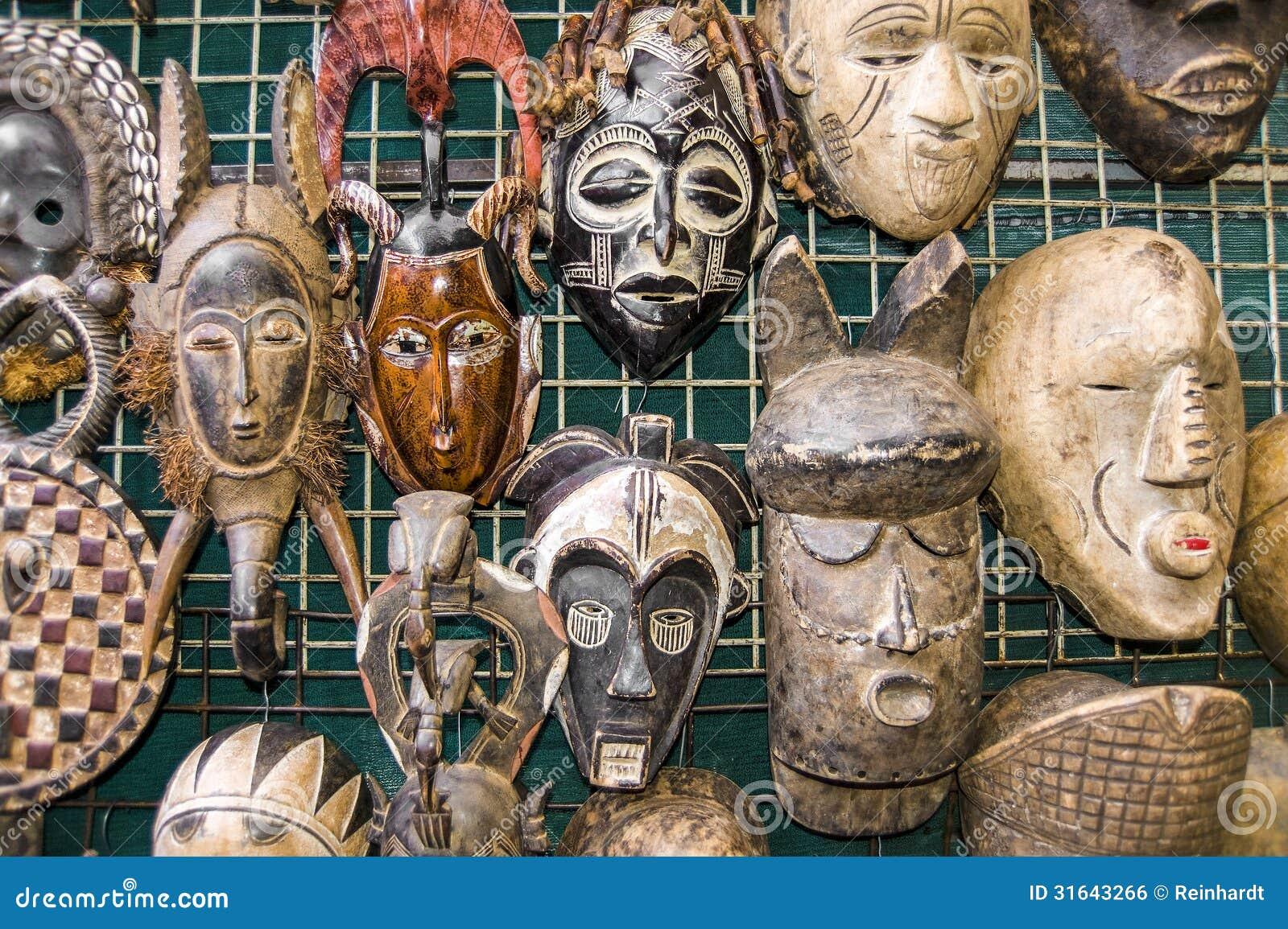 afrikanische masken lizenzfreies stockbild bild 31643266. Black Bedroom Furniture Sets. Home Design Ideas