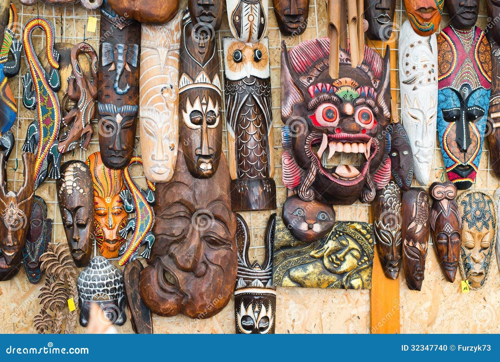 afrikanische masken stockfoto bild 32347740. Black Bedroom Furniture Sets. Home Design Ideas