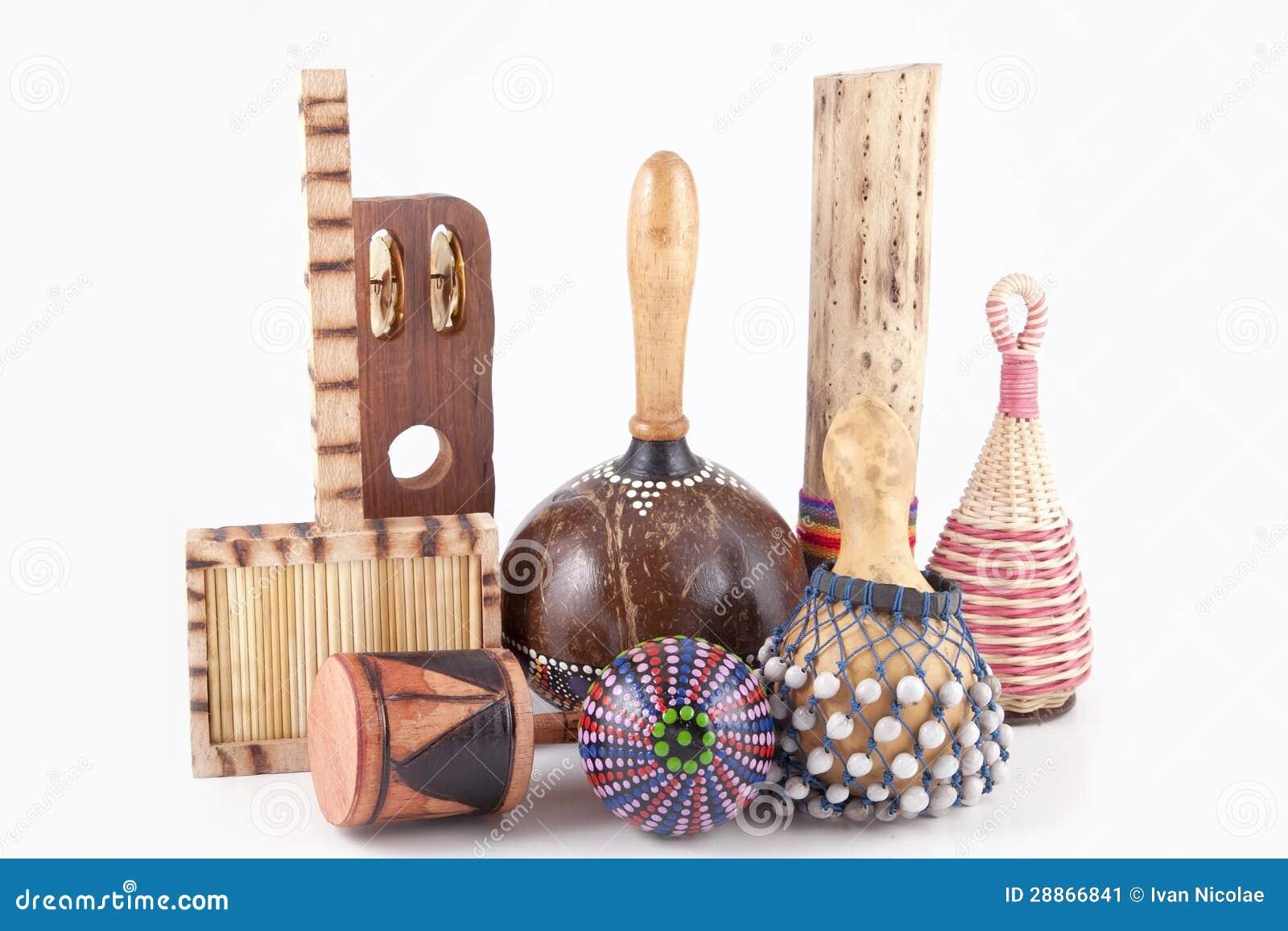 Afrikanische Musikinstrumente Stockbild Bild Von