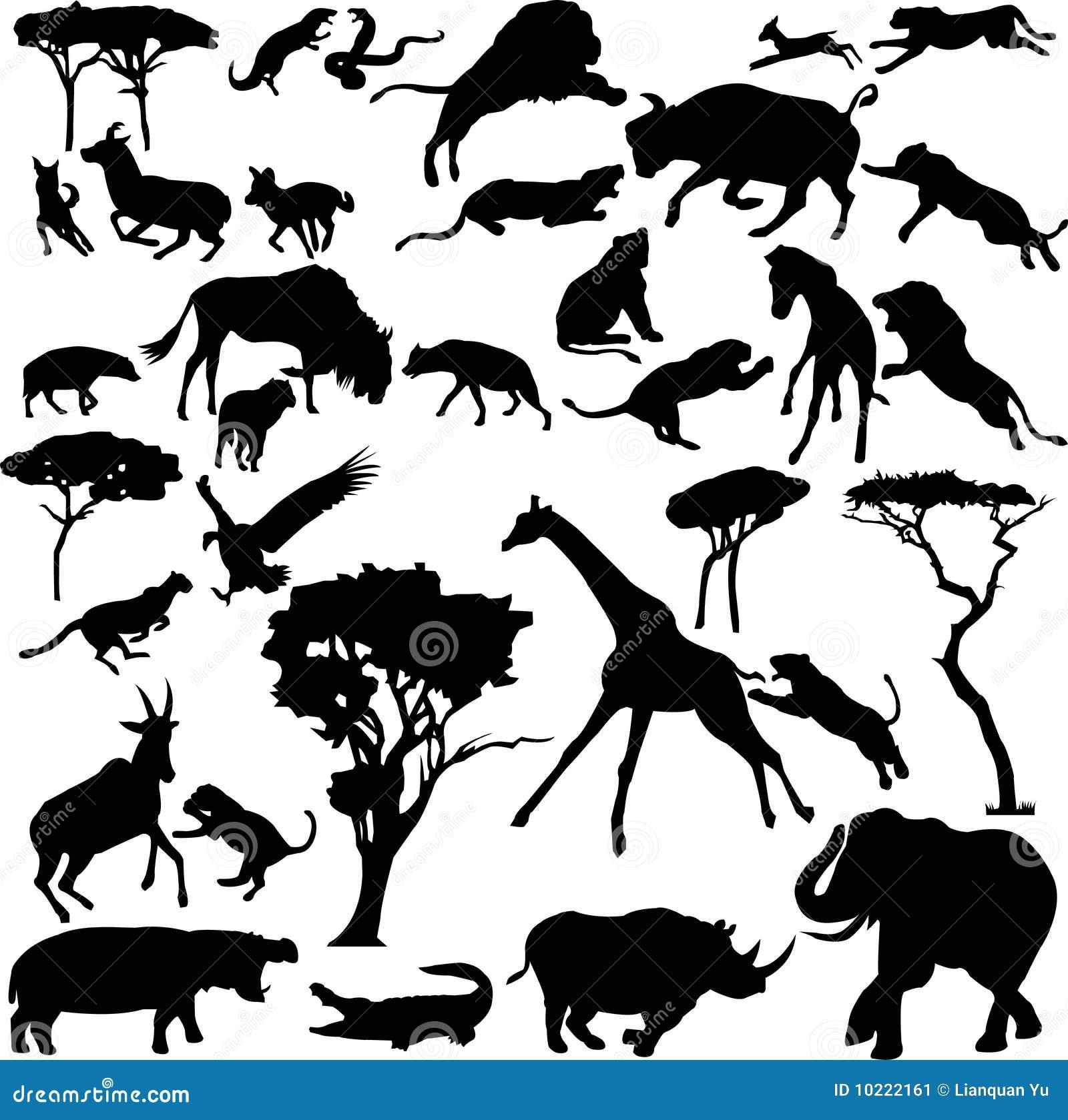 afrikanische tiere vektor abbildung illustration von