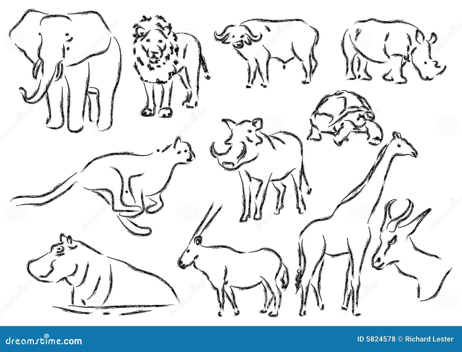 afrikanische tiere stock abbildung illustration von