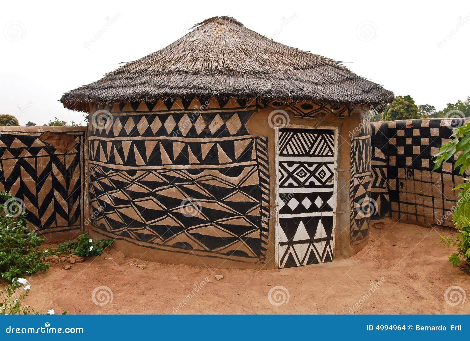 Afrikanische Ziegelsteinhütte