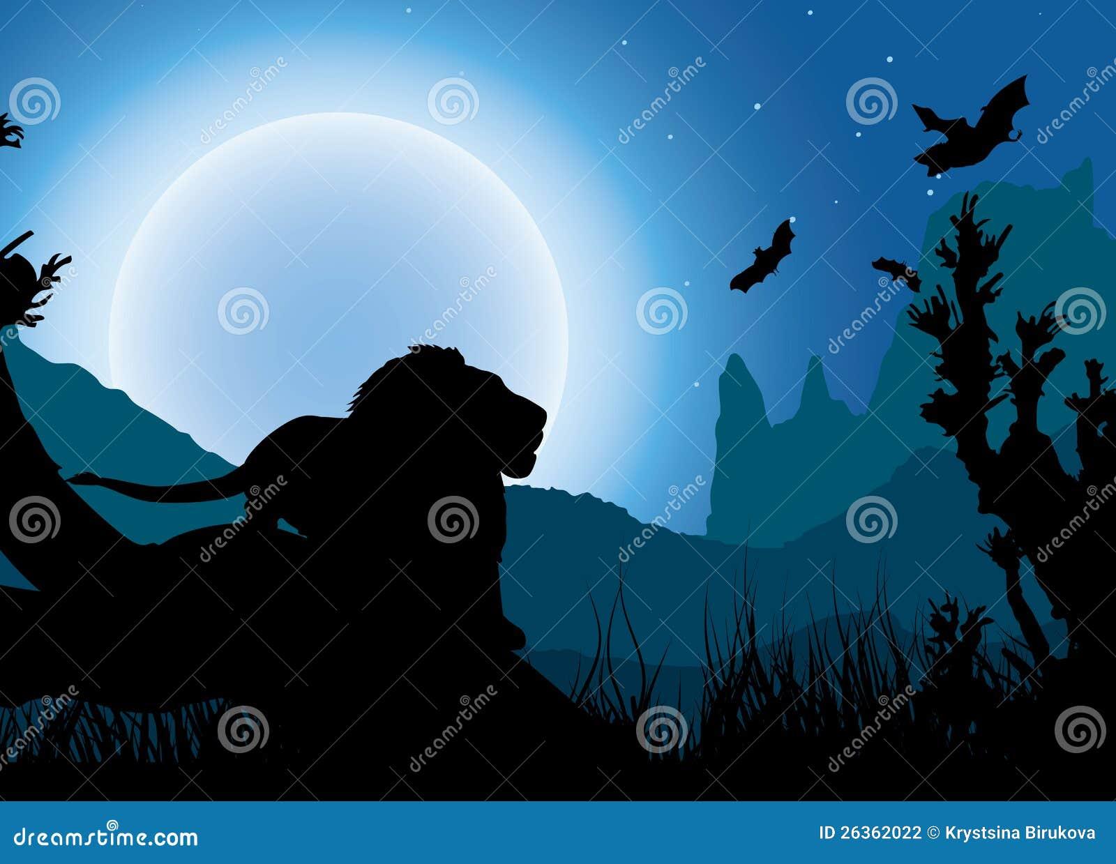 Afrikanischer Nachthintergrund
