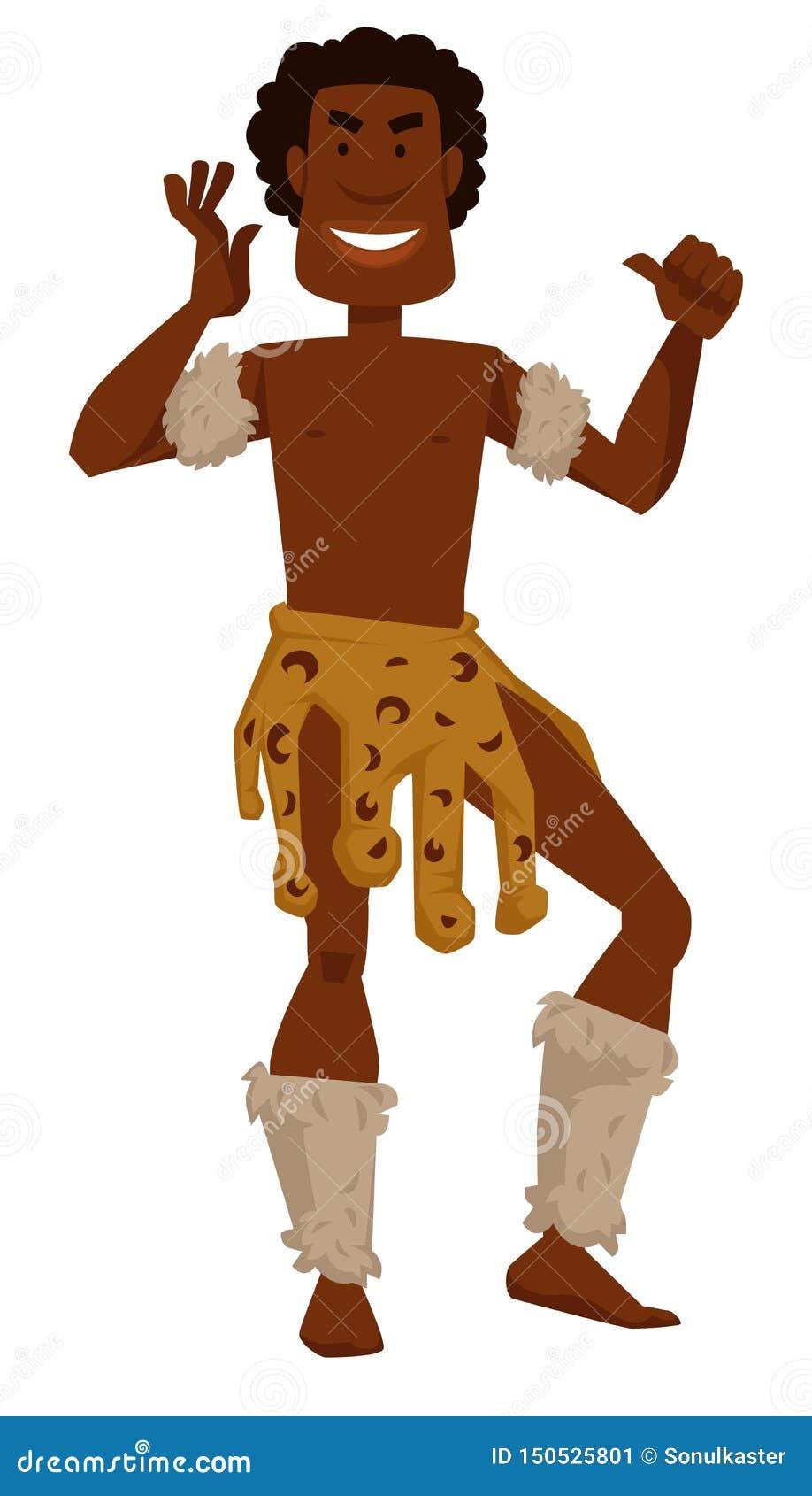 nackte afrikanischer stamm mann