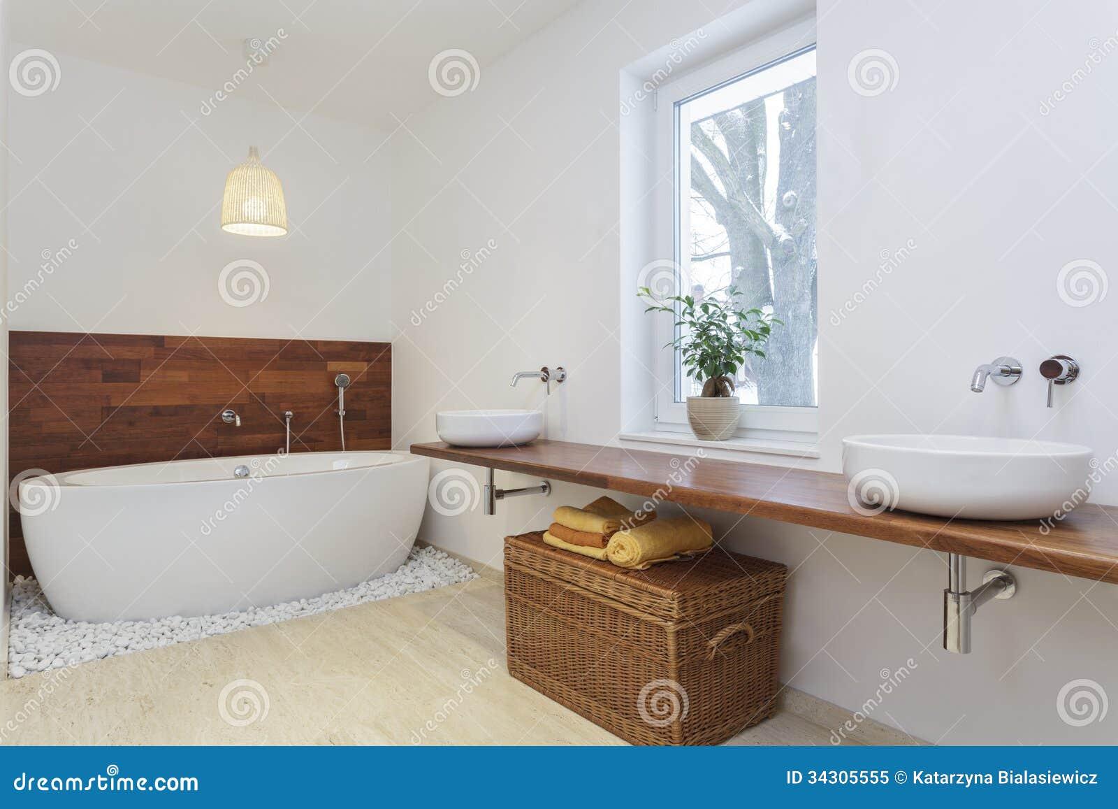 Afrikanisches badezimmer lizenzfreies stockfoto bild 34305555 - Holzwand fliesen ...