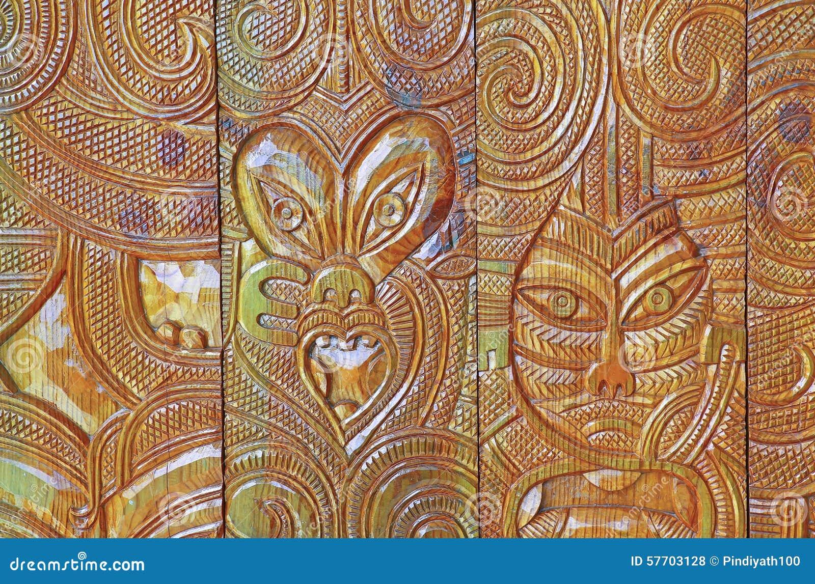 Afrikanisches Holz, Das Design Schnitzt Stockfoto  Bild