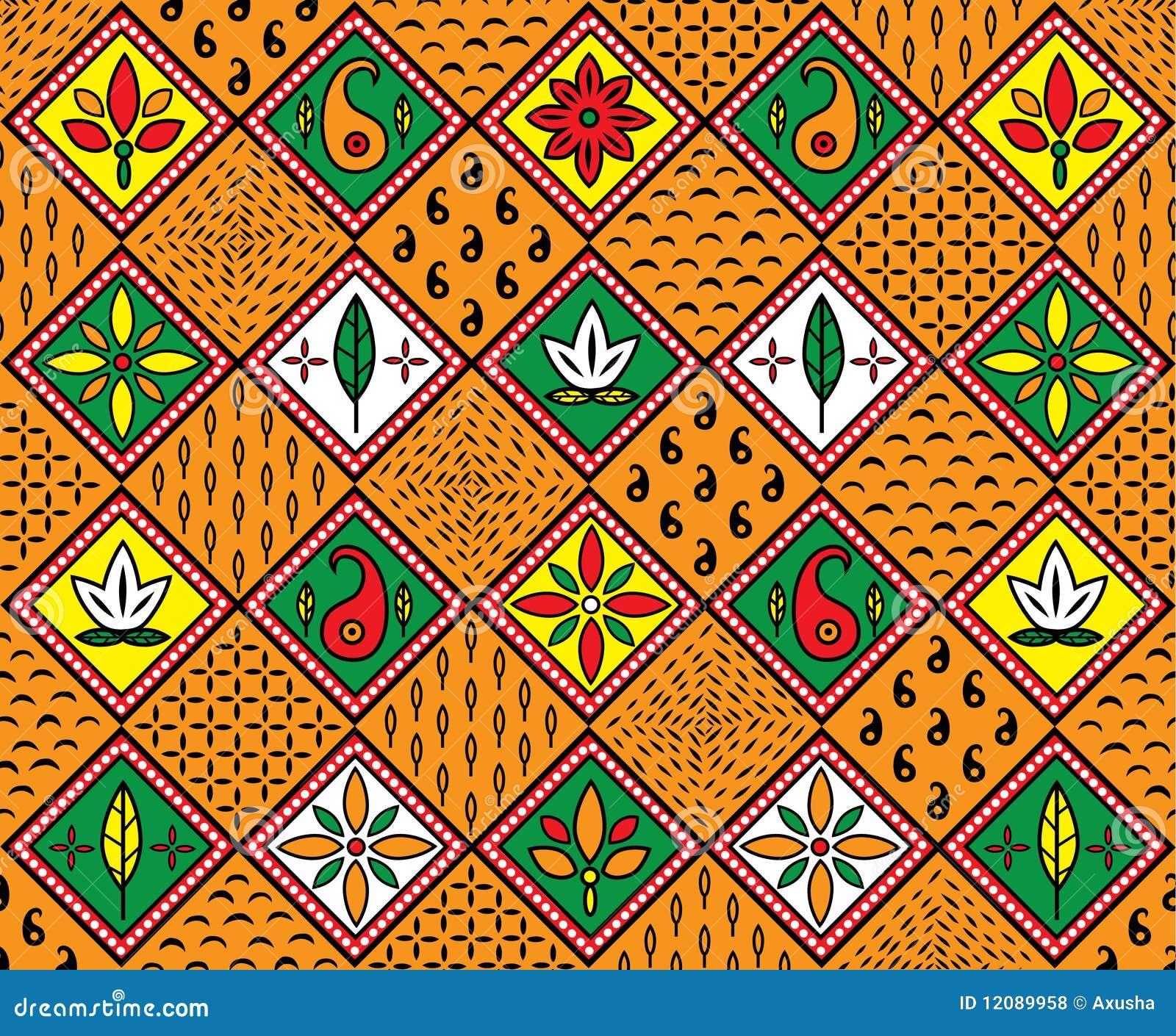 Afrikanisches Muster Lizenzfreie Stockfotos  Bild 12089958