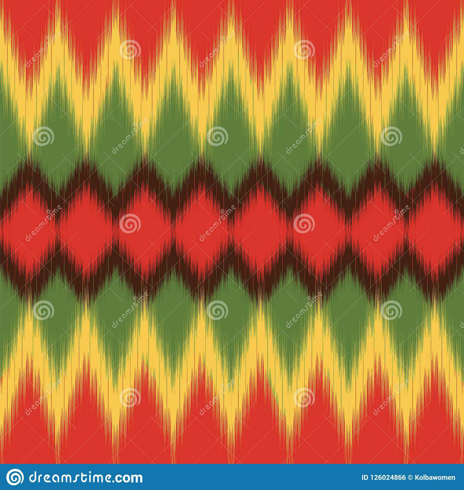 Afrikanisches Muster Ethnisches Gewebe Ikat-Druck Vektortapete