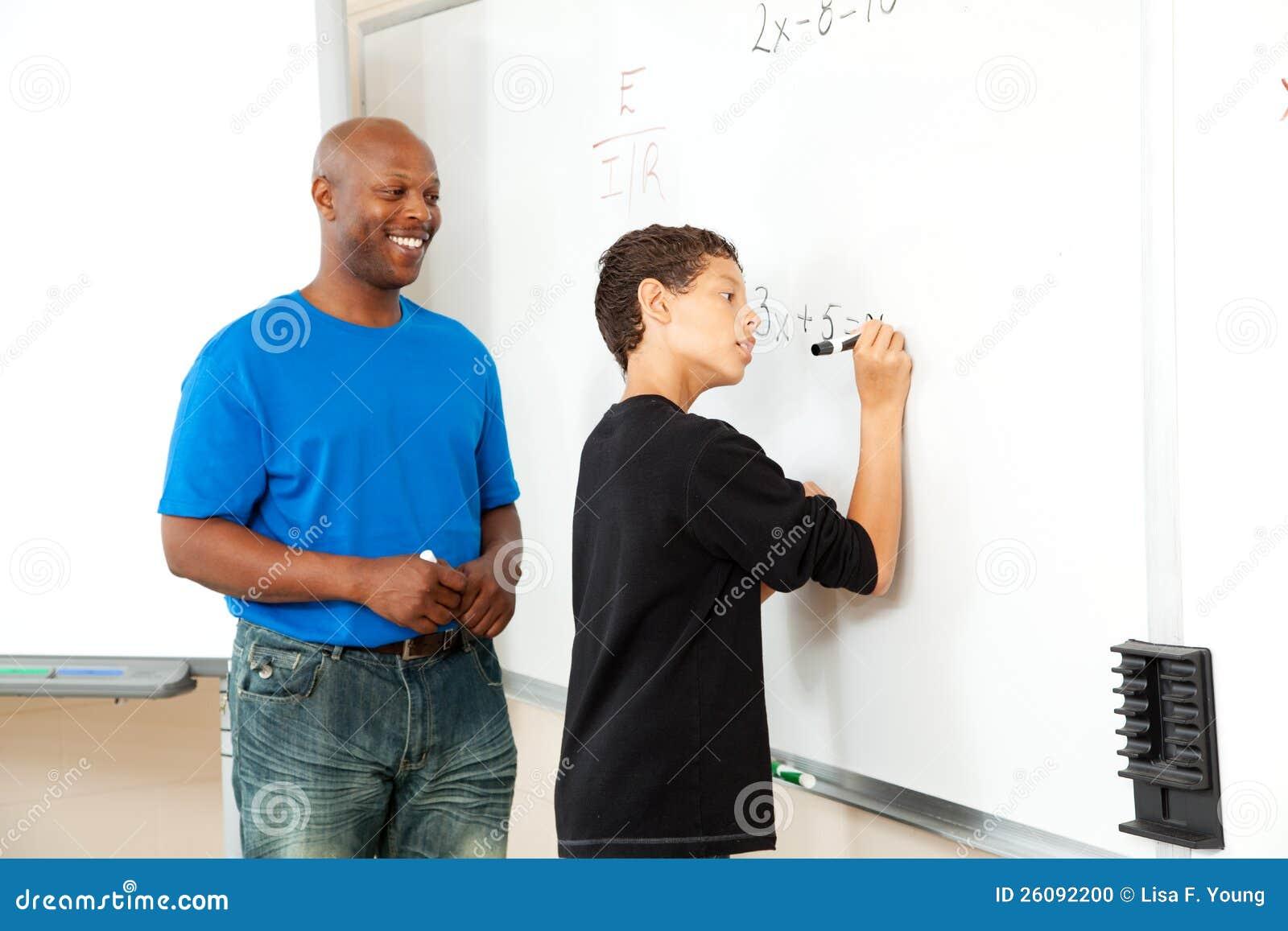 Afrikansk amerikanMathlärare och deltagare