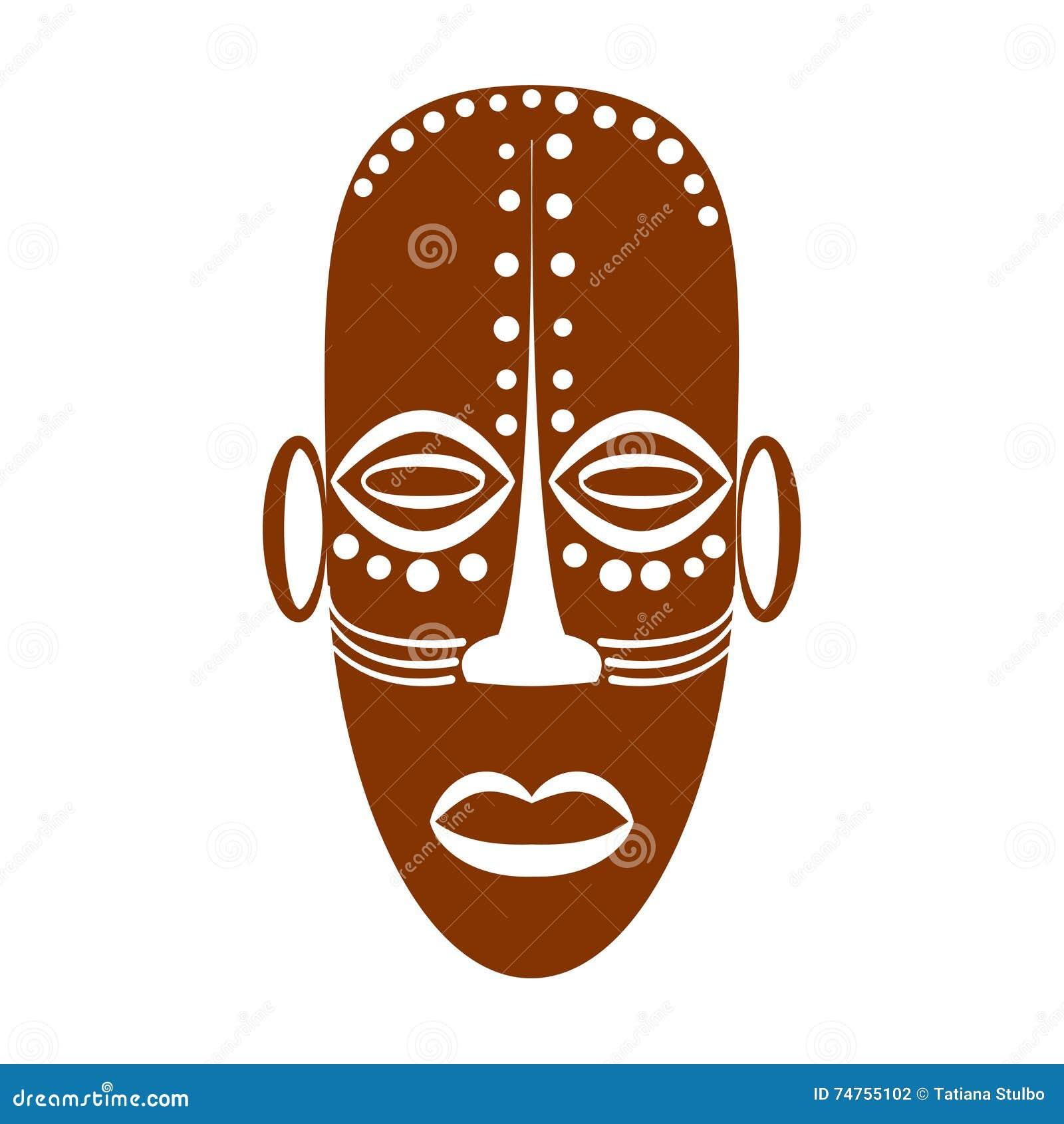 Afrikansk etnisk stam- maskering