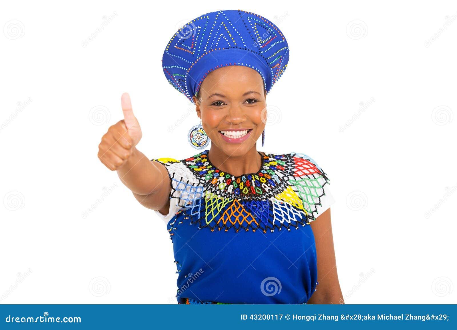 Download Afrikansk Flicka Som Ger Upp Tummen Fotografering för Bildbyråer - Bild av half, loft: 43200117