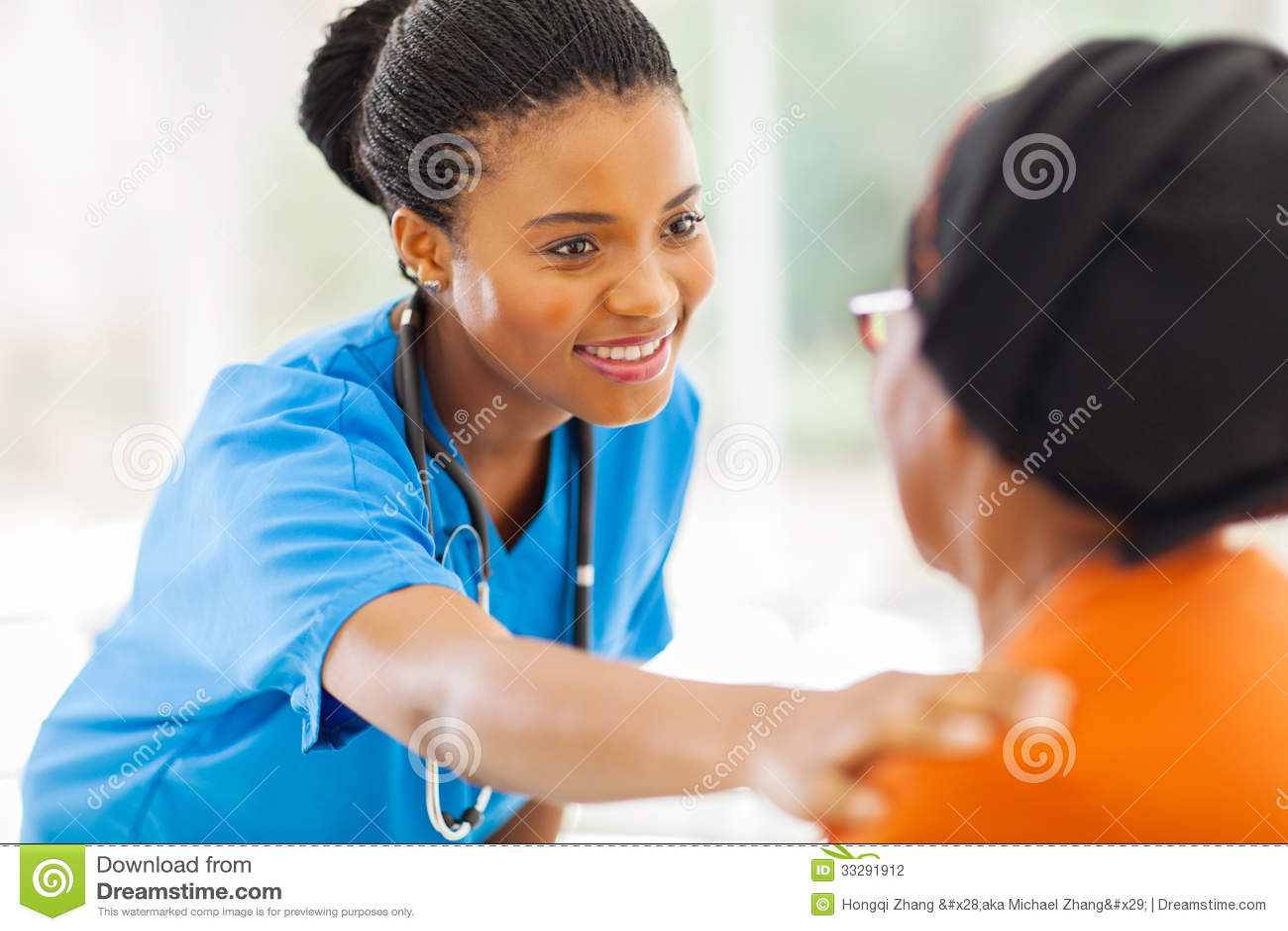 Afrikansk medicinsk sjuksköterska