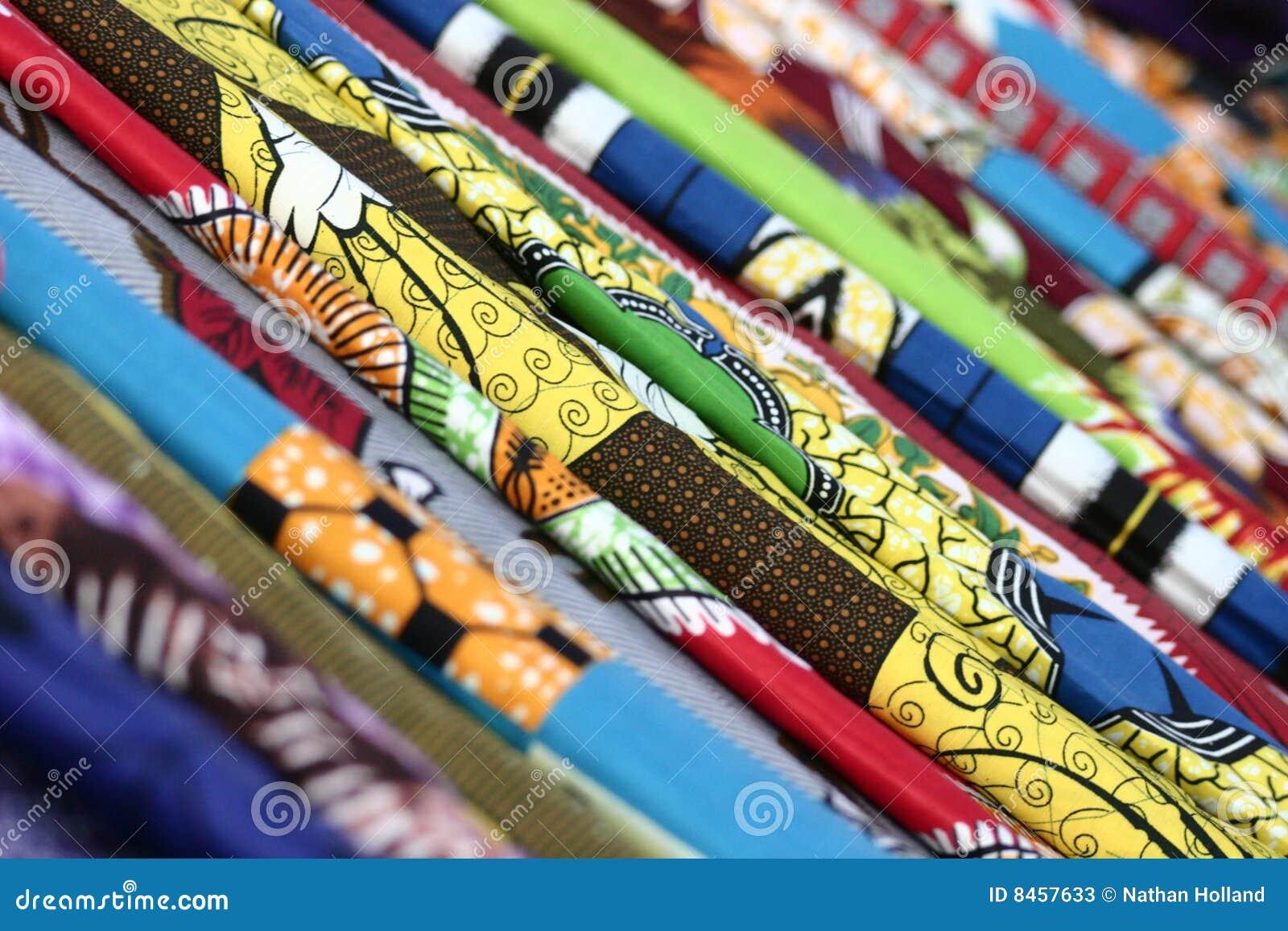 Afrikanska färgrika tyger
