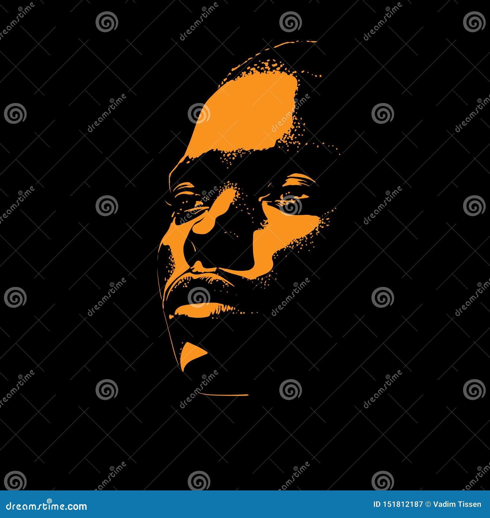 Afrikanskt panelljus för kvinnaståendekontur i motsats vektor illustration