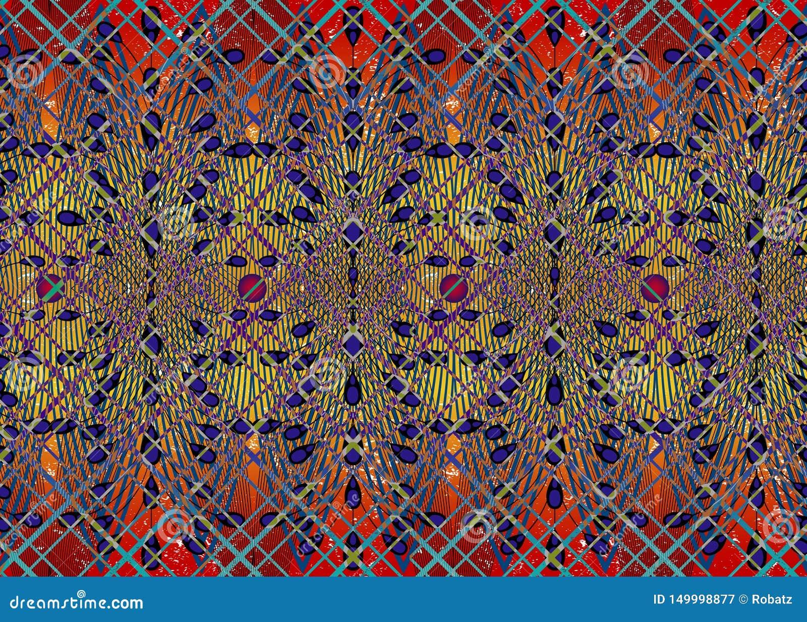 Afrikanskt trycktyg, etnisk handgjord prydnad f?r dina geometriska best?ndsdelar f?r f?r design, etniska och stam- motiv seamless