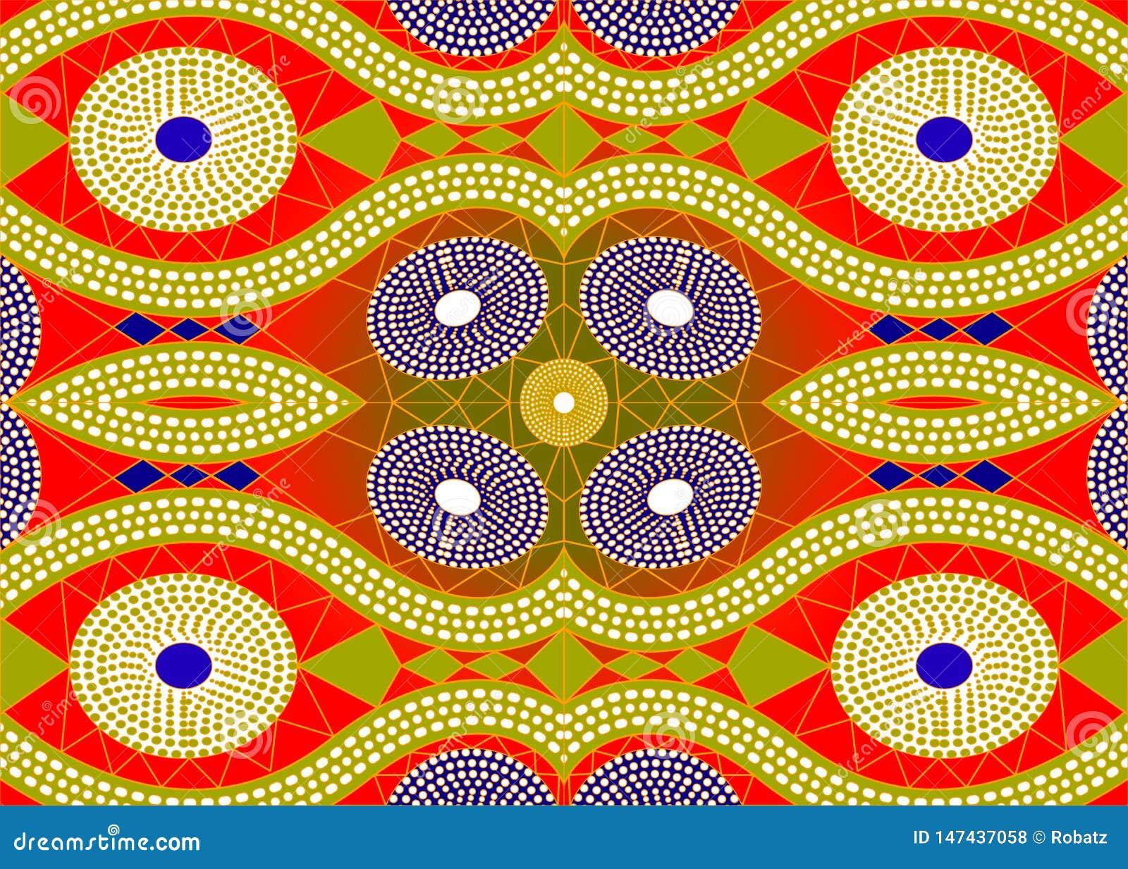 Afrikanskt trycktyg, etnisk handgjord prydnad f?r dina geometriska best?ndsdelar f?r f?r design, etniska och stam- motiv Vektorte