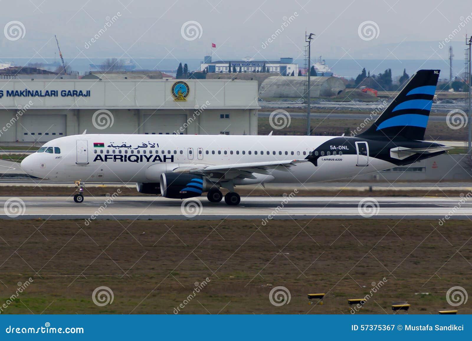 Afriqiyah Airways-Luchtbus A320