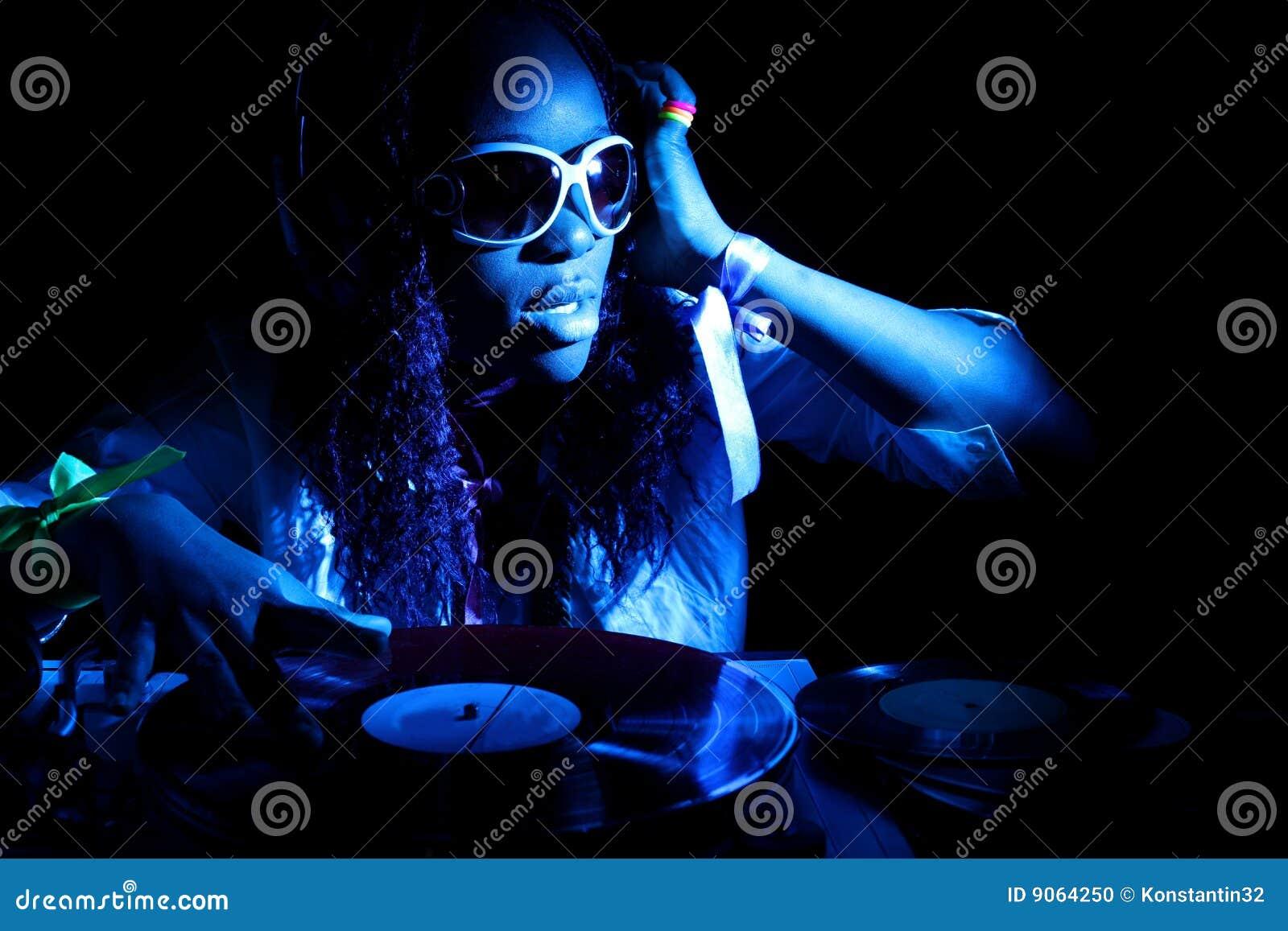 Afro-américain frais DJ