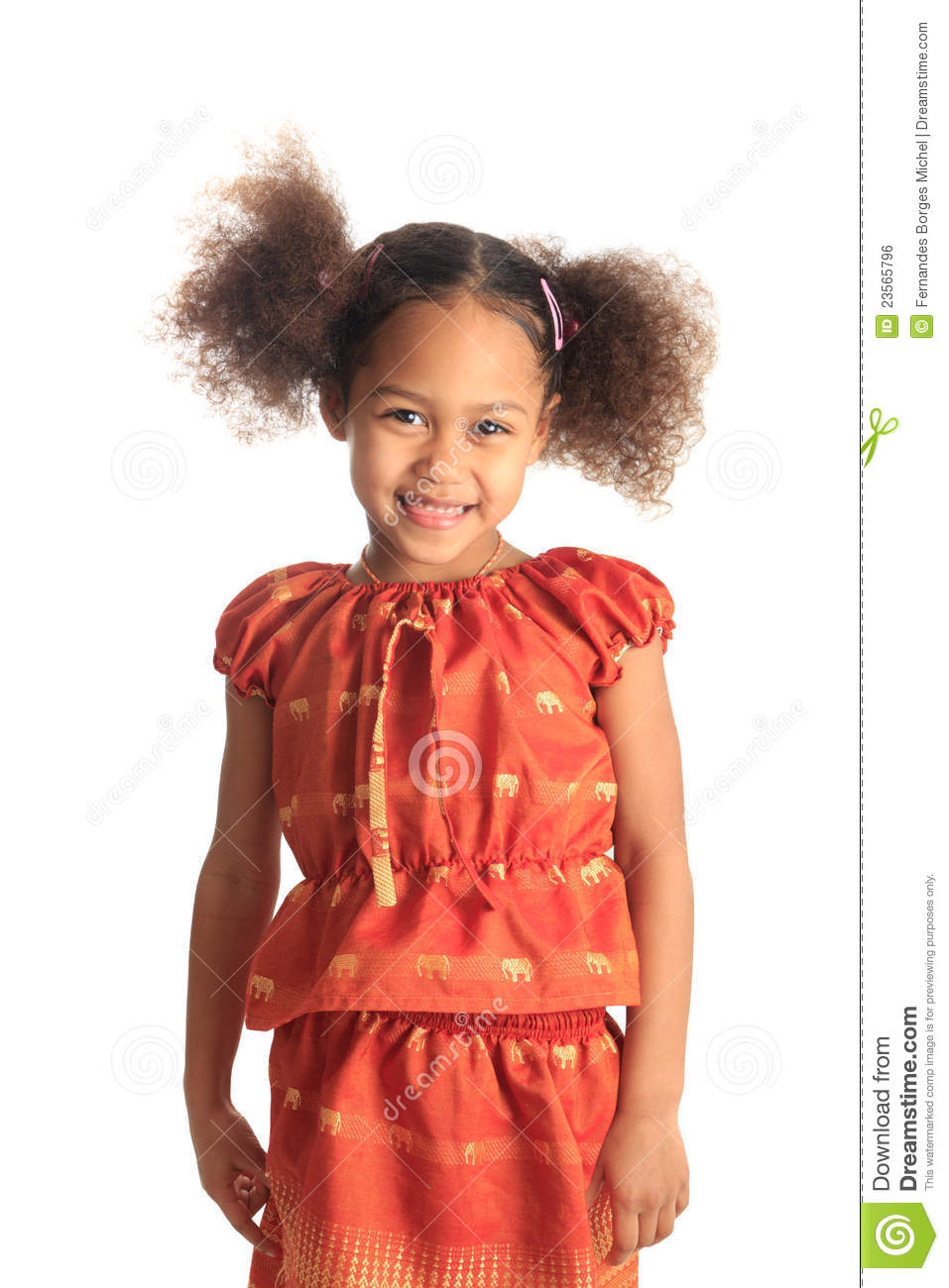 Download Afro American Beautiful Girl Children With Black C Stock Photo - Image of expression, hair: 23565796