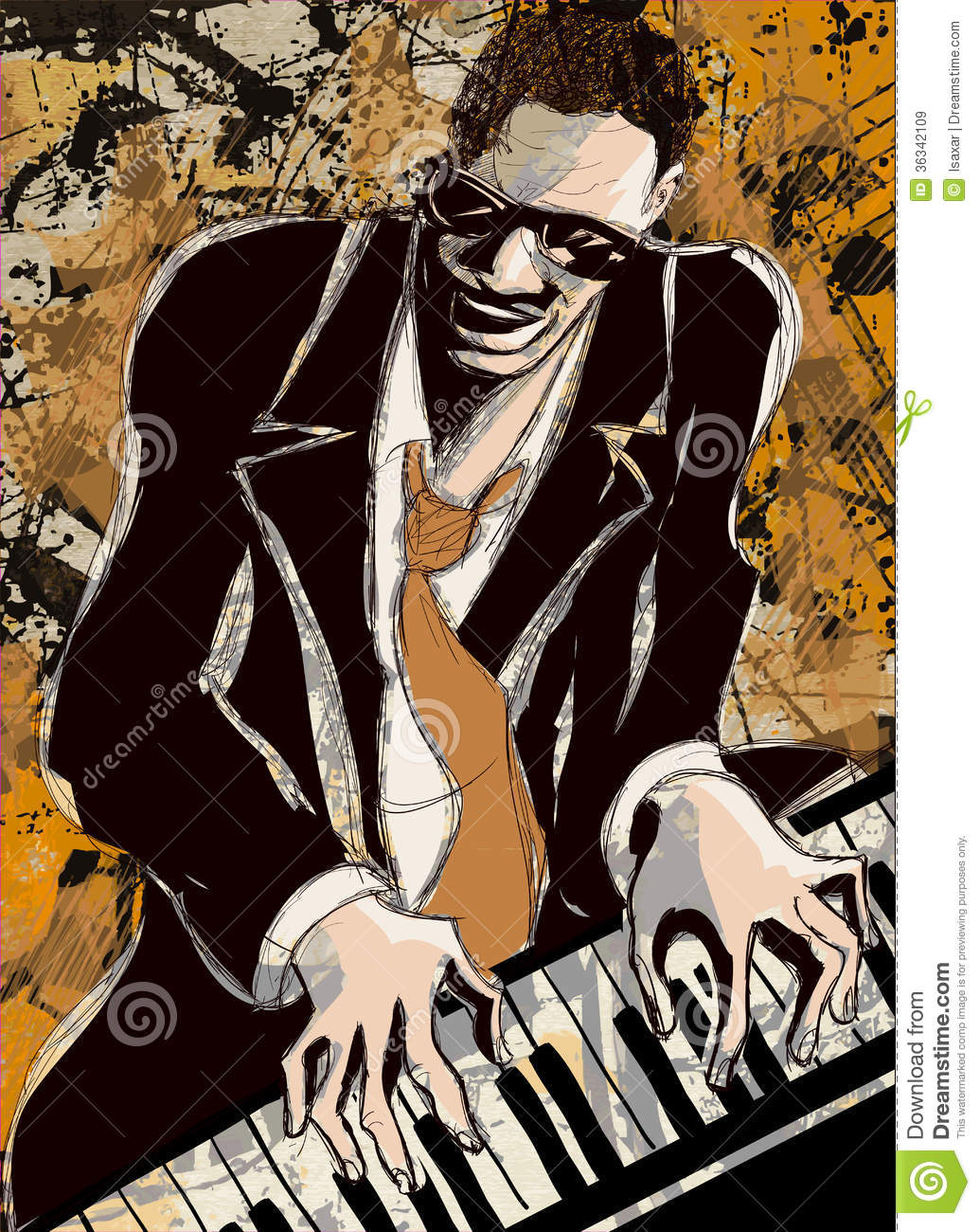 Afro american jazz pianist royalty free stock images image 36342109