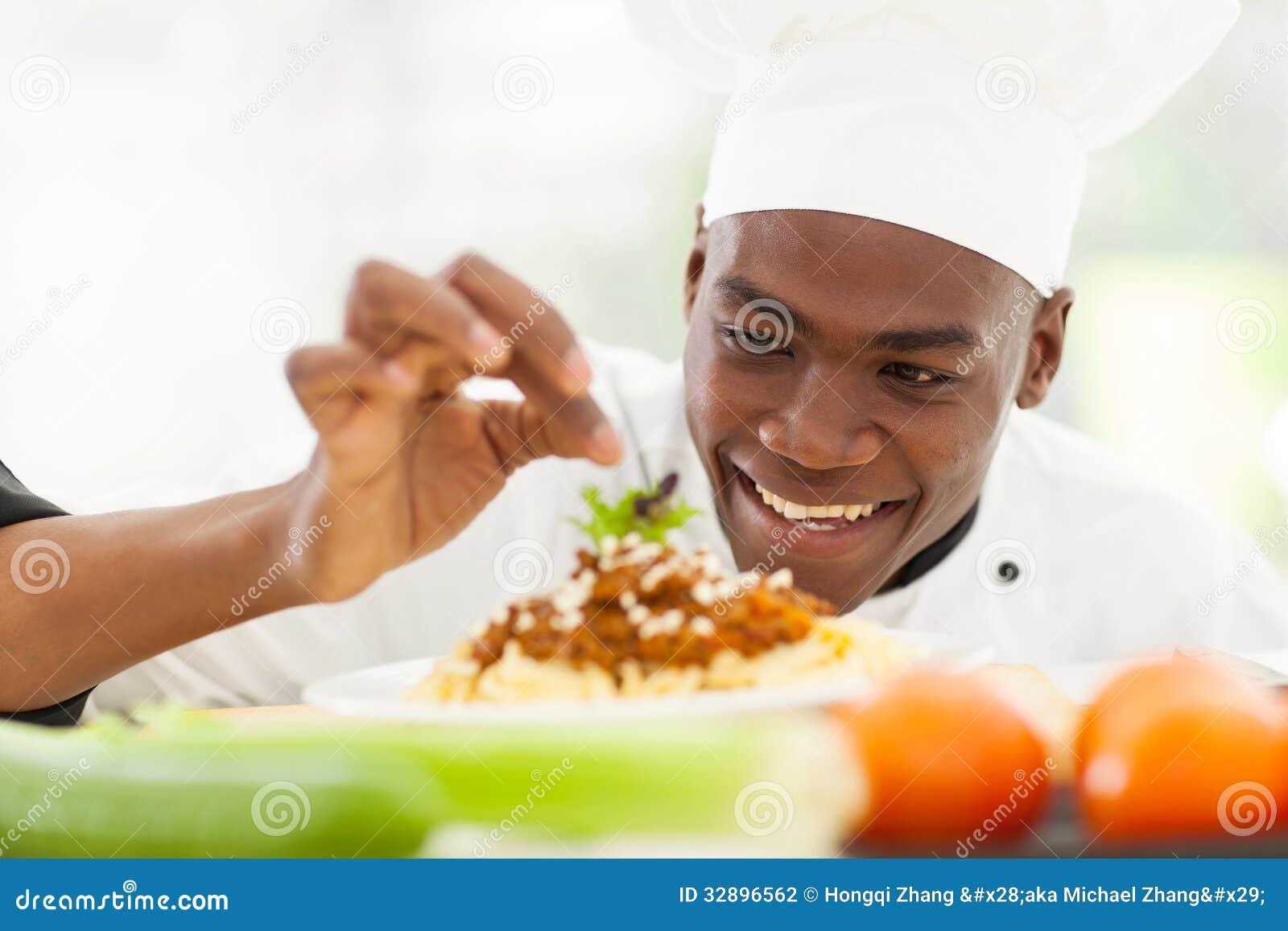 Afro Amerikaanse chef-kok