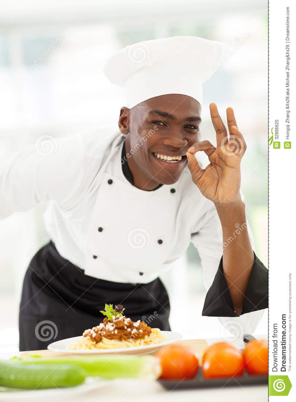 Afro Chef Delicious Stock Photo - Image: 32896620