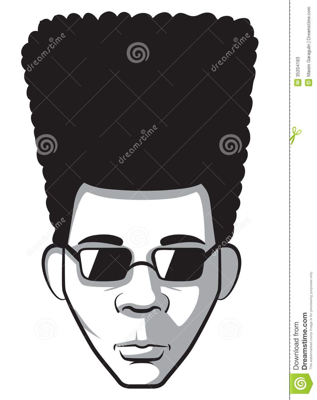 afro man stock vector illustration of young african 35204183