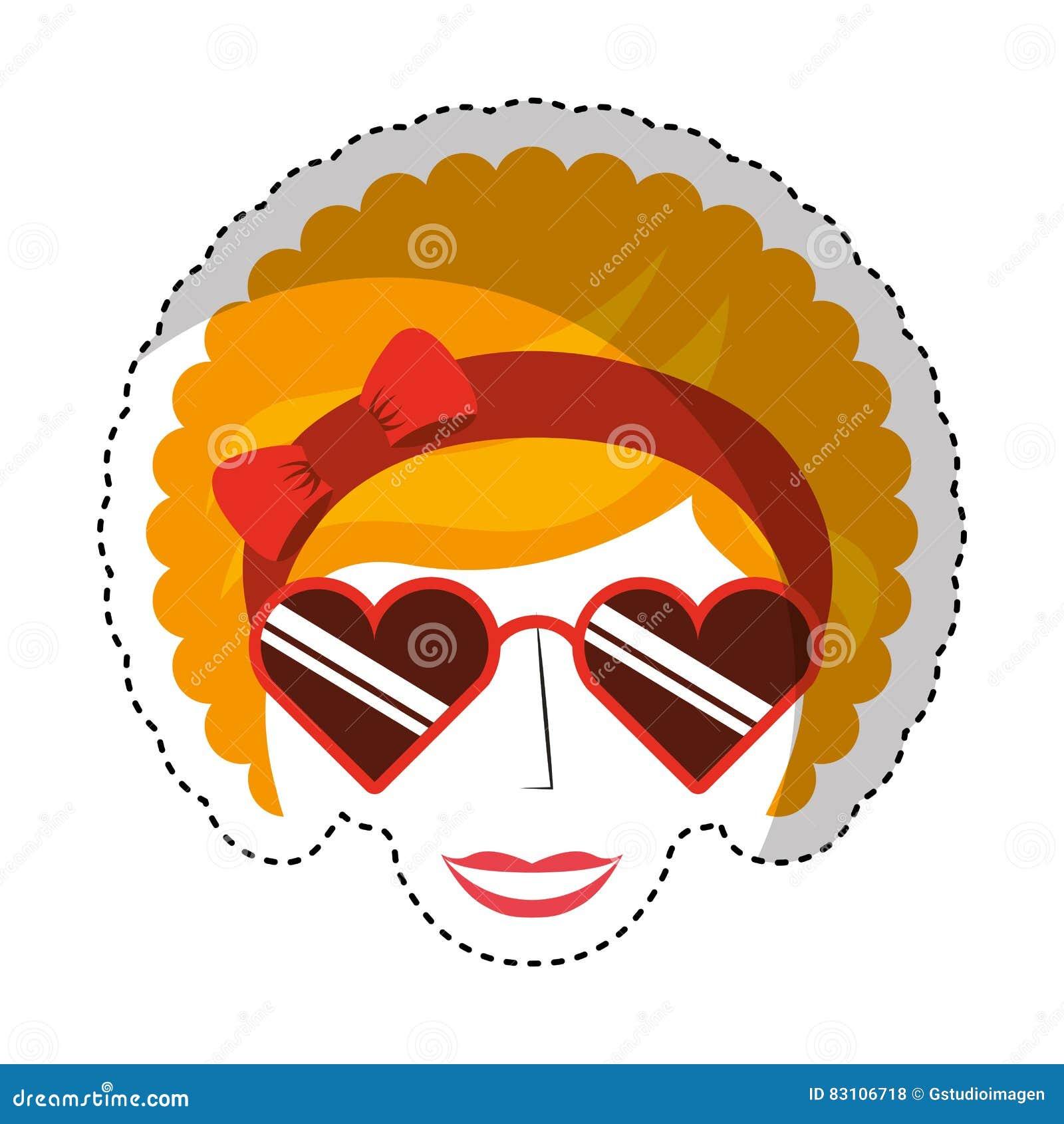 Afro stil för kvinnatecken