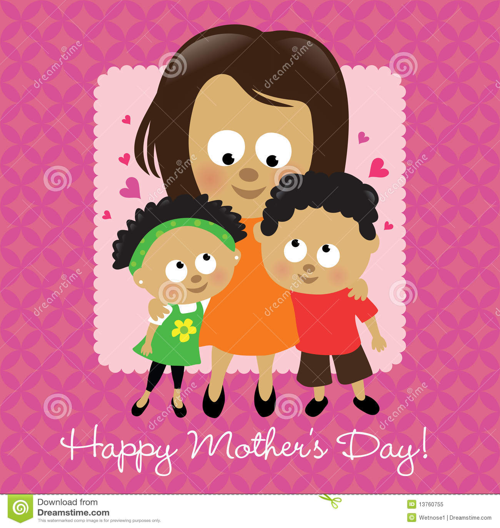 Afroamericano feliz del día de madre