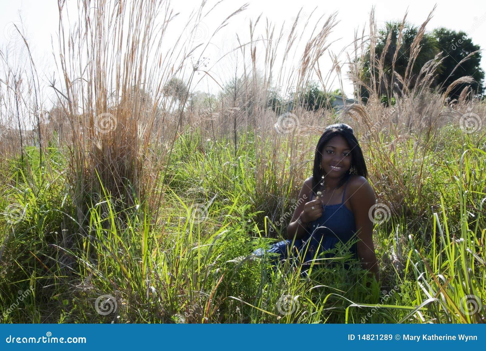 Afroamericano teenager all aperto