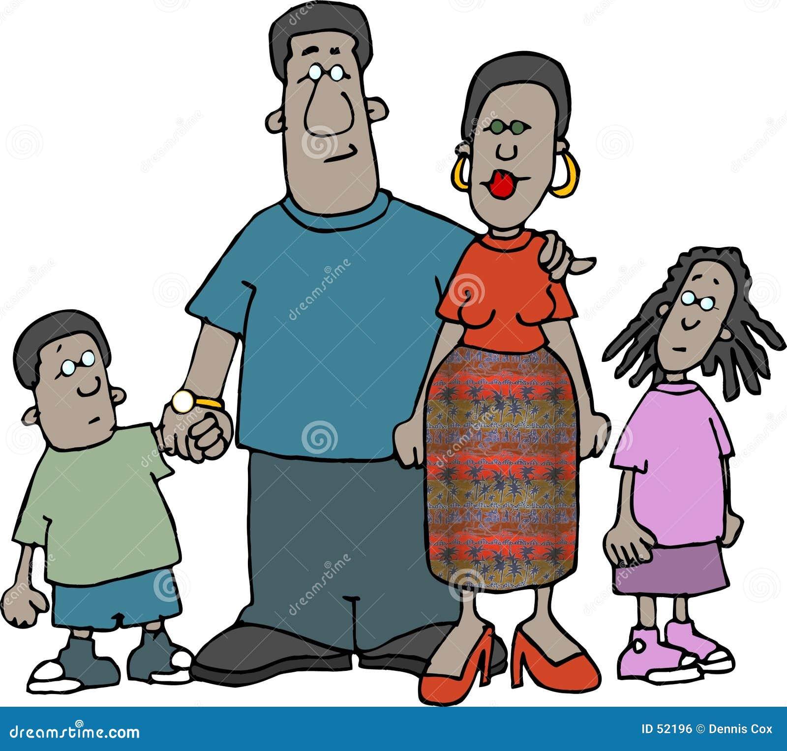 Afroamerikaner-Familie