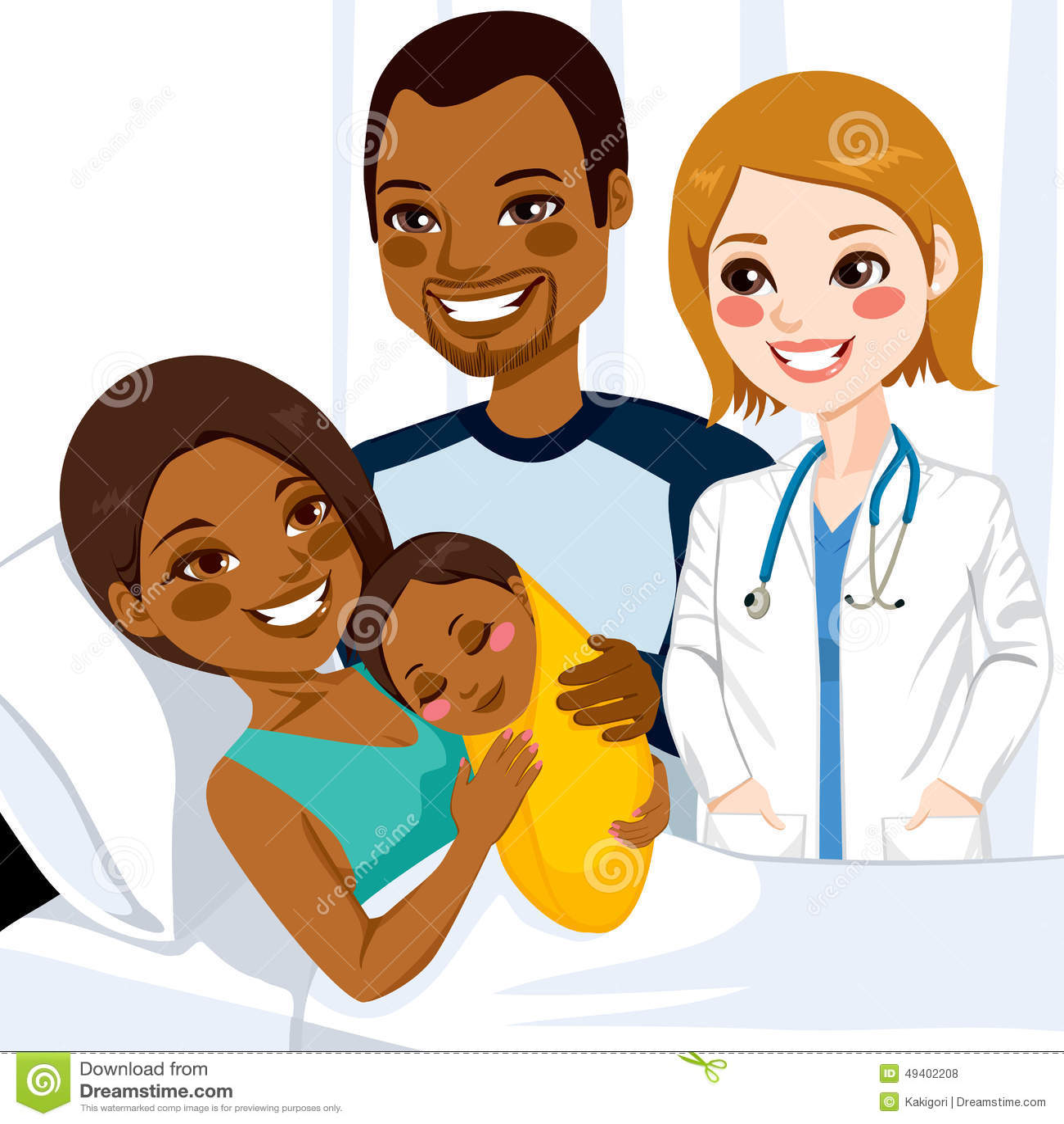Download Afroamerikaner-Mutter, Die Baby Umarmt Vektor Abbildung - Illustration von doktor, gynäkologe: 49402208