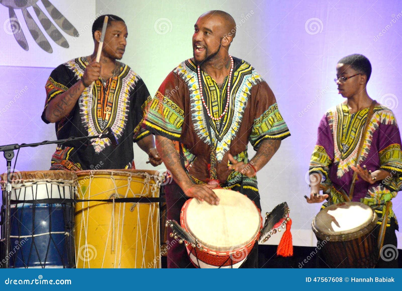 Afroamerikaner-Schlagzeuger