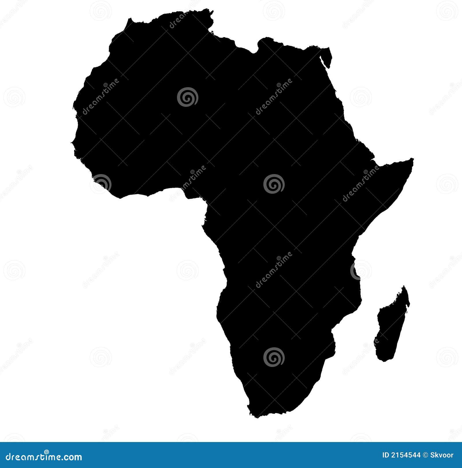 Afryce bw mapa