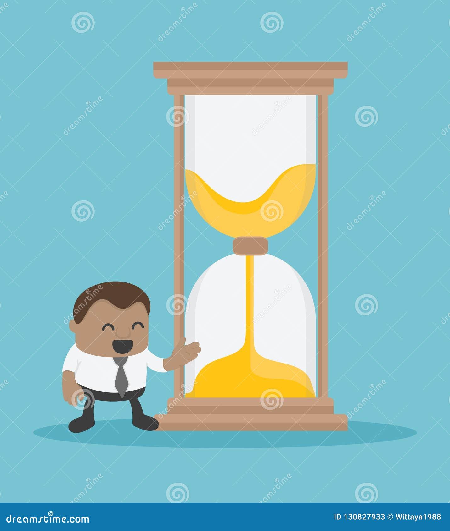 Afrykańscy biznesy oferuje hourglass tamto które potrzebują czas