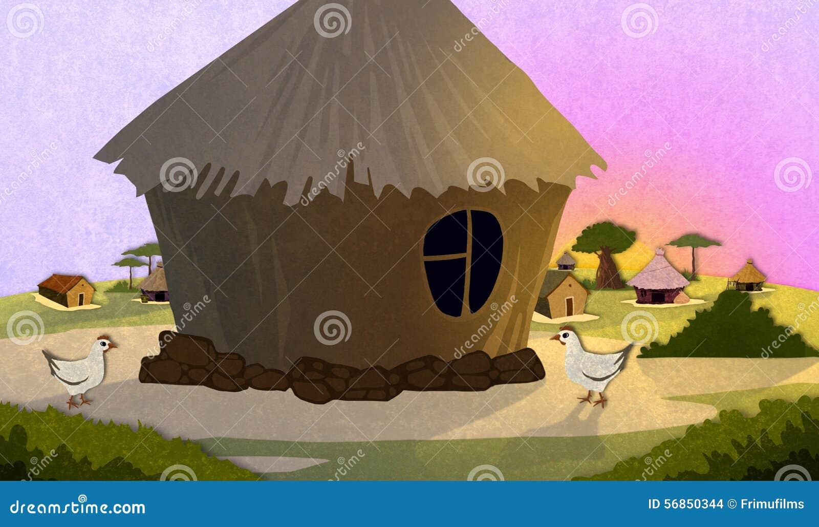Afrykańscy wioska domy