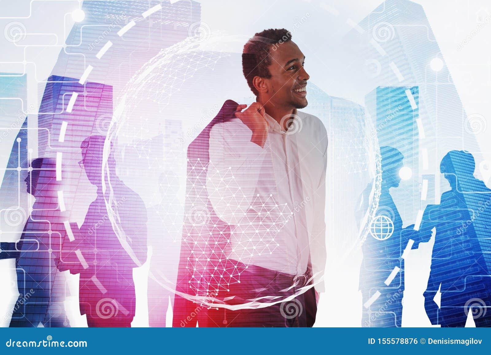 Afrykański lider biznesu, globalny związek
