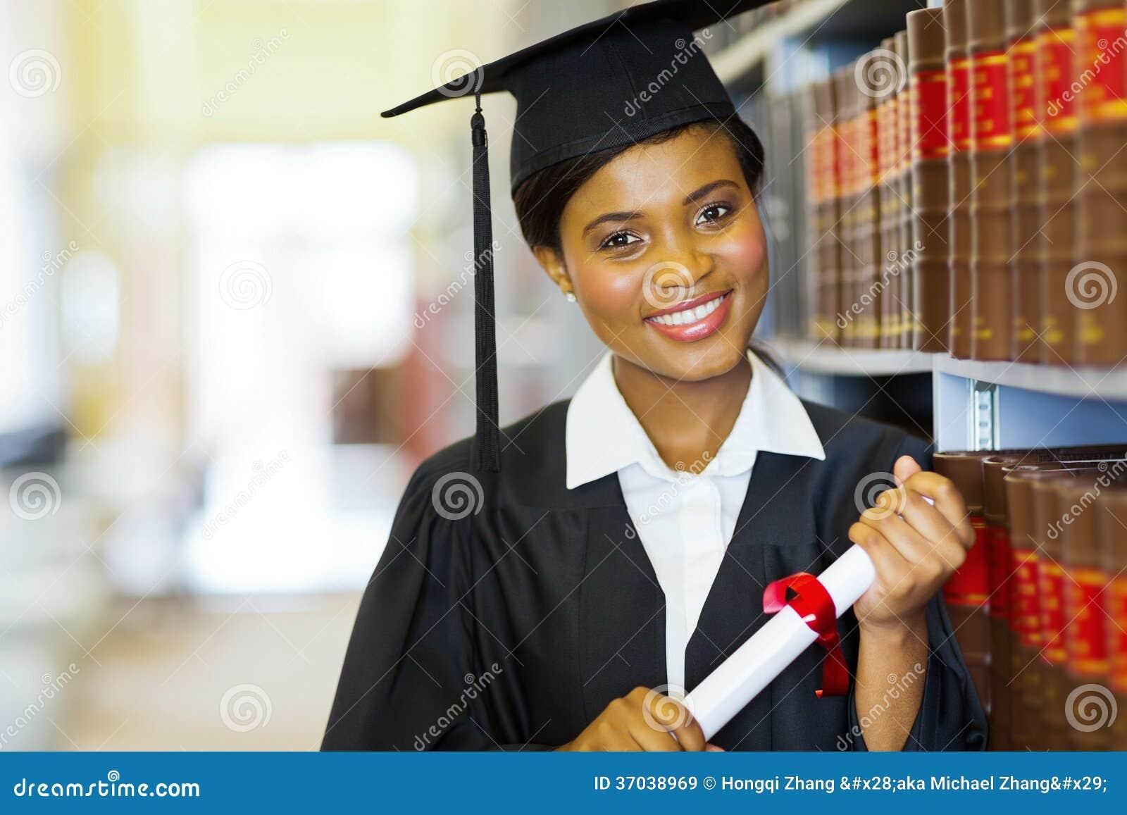 Afrykański szkoła wyższa absolwent